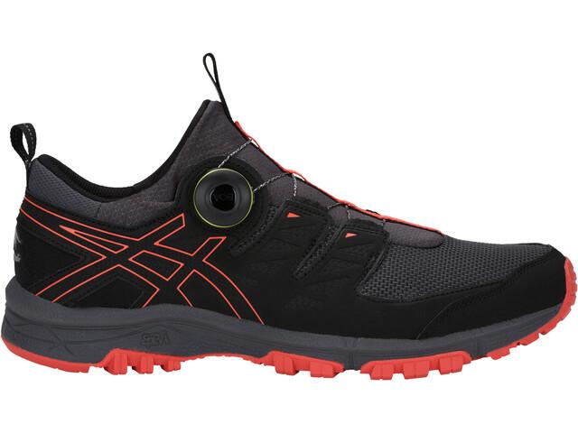 asics M's Gel-FujiRado Shoes Dark Grey/Red Snapper